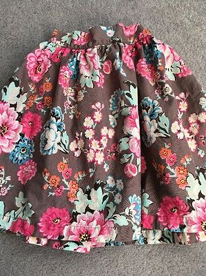 GIRLS JOULES FLORAL SKIRT 4yrs