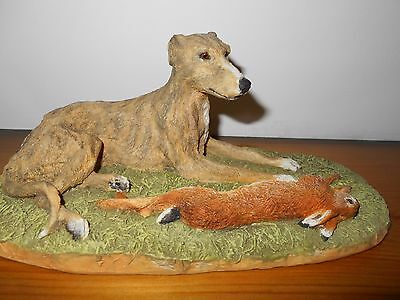 Brindled Greyhound/lurcher Laying With Hare Limited Edition (Bfa)