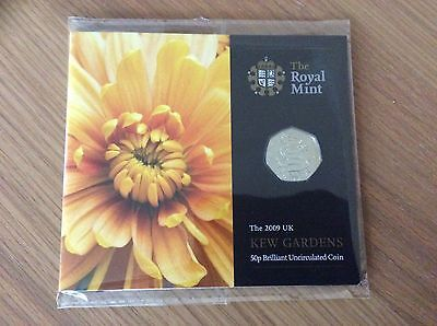 2009 The Royal Mint *NEW* Kew Gardens *Rare* Pagoda 50p Fifty Pence Coin Pack