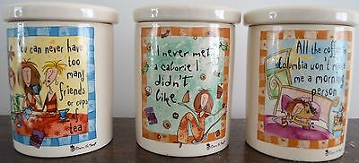 Johnson Bros set of 3 Born to Shop Storage canisters
