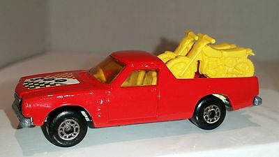 HOLDEN ~ RED with 2 Yellow Bikes ~ MATCHBOX LESNEY SUPERFAST ~ Made in England