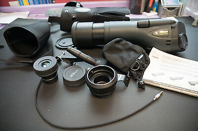 Nikon RAIII 65 WP Straight Spotting Scope - Charcoal Grey + Eyepiece