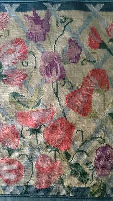 Sweet Peas DMC completed Canvas Work Tapestry M215A Cushion Cover Panel