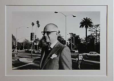 Helmut Newton -signed/signiert- George Christy, Hollywood actor -Silbergelantine