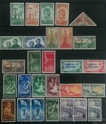 New Zealand Health Stamps 1941-1954. Mint & Used.