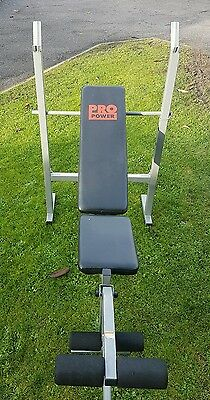 Adjustable York weights bench, barbell and 50kg of weights