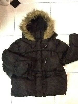 Marks & Spencer Girls Black Padded School Jacket/Coat Aged 5-6 Years Old (116cm)