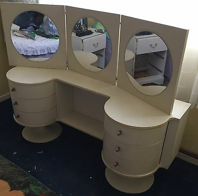 vintage white dressing table 1970s