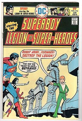 Superboy & The Legion of Super-Heroes #214, Very Fine Condition.