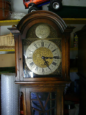 . 8 day Grandmother clock circa 1930.Westminster & Whittington chimes.Wt.driven