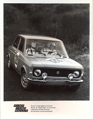 Fiat 128 Rally original official press photo 1972