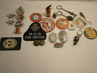 Fire Brigade Badges And Other Related Items