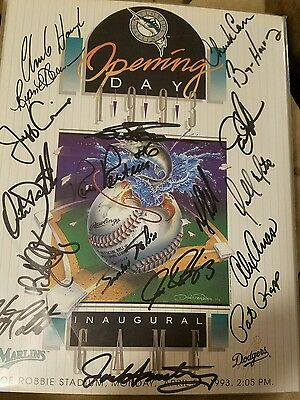 Marlins Inaugural Game Program Autographed and Authenticated