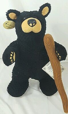 "13"" Plush Bearfoots Bears Jeff Fleming Jointed Black Bear Marty Big Sky Carvers"