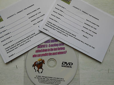 Jackpot 5 Horse Racing Dvd = New Idea For Race Nights = Great Fun/fundraiser