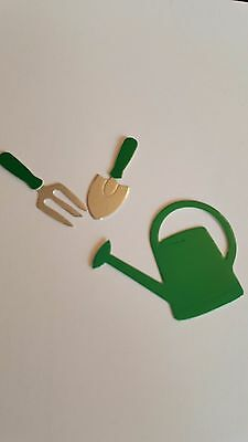 Watering Can and Garden Tools Card Toppers