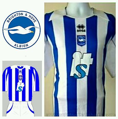 Brighton & Hove Albion Home Football Shirt - Seagulls / Size Medium Short Sleeve