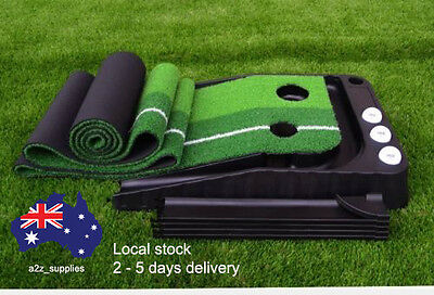 Quality Golf Putting Mat Trainer - With automatic ball return system
