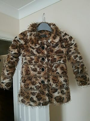 """Girls Beautiful Faux Fur """"CHICAPRIE"""" Animal Printed Age 5yrs"""