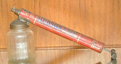 Vintage Hudson Bug Sprayer With Glass Base Insect Garden Advertising Large