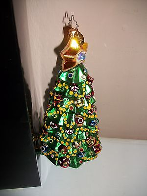Christopher Radko Christmas Tree-Signed-Limited Edition Saks Fifth Avenue-Ret.