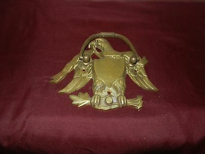 Estate Find Solid Brass Eagle Door Knocker