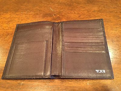 Luxurious Tumi Brown Napa Leather Passport Holder Cover Travel Wallet Used 1X