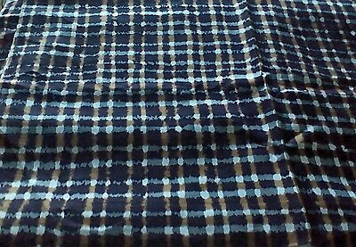 """Vintage 3.5 Yards Multicolor Plaid 46"""" Synthetic Fabric"""