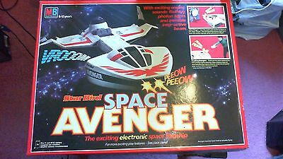 MB Star Bird Space Avenger Battery Operated Toy Boxed Complete Good Con 1980's