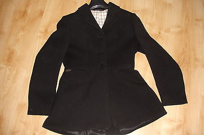 Pytchley  Mears Country Ladies Hunting Coat Jacket Black heavyweight frock sz 34