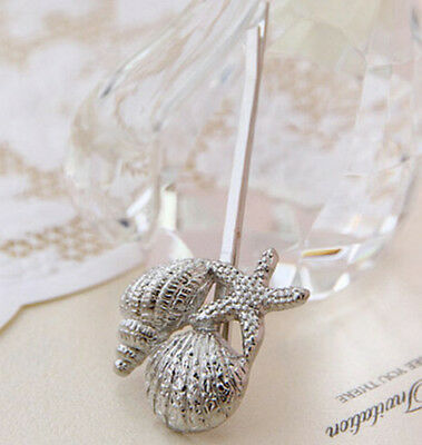 New Retro Girl Metal Silver Conch/Shell Hairclip Hairpin Hair Stick Jewelry