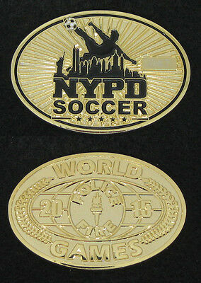 2015 World Police and Fire Games NYPD Soccer Challenge Coin