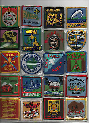 Canadian Scout Patches x 20