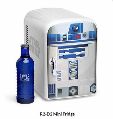 Official Star Wars R2-D2 Liter Mini Fridge !! Happy Holidays Thermo Cooler New