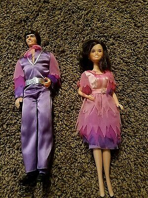 1966 to 68 vintage Donnie and Marie Osmond dolls