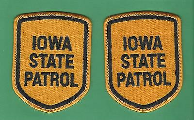 Lot Of 2 Iowa State Patrol Felt Shoulder Patches