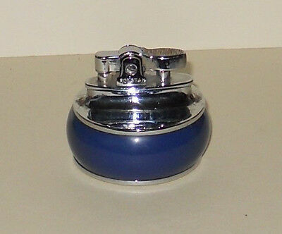ROLSTAR PETROL TABLE LIGHTER--with blue base