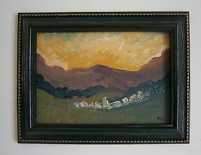 """An Original Impressionist Oil Painting Of  """"a Village South Of France"""" - Signed"""