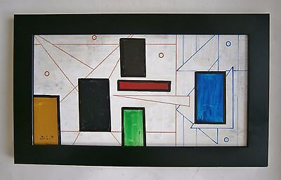"""An Abstract Oil Painting Entitled """"architecture"""" - Signed"""
