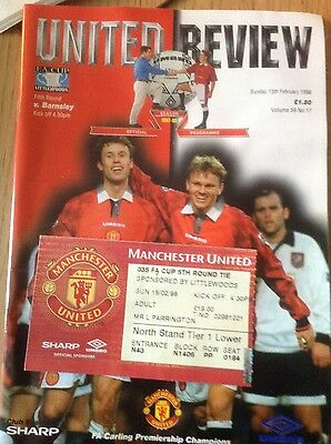 Machester United review and ticket stub 15.02.98
