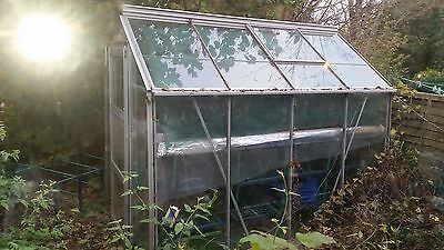 Greenhouse Aluminium and Glass 8 x 6 FT Good Condition Used