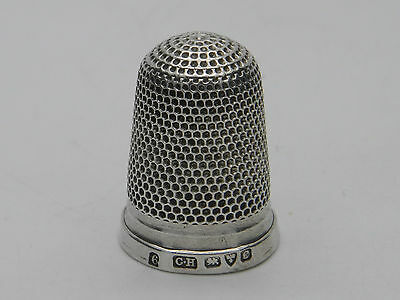 1903 - Solid Sterling Silver Edwardian Sewing Thimble - Charles Horner - Chester
