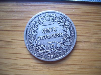 1837 Shilling William Iiii From A  Coin Collection Find