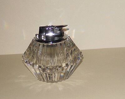 Beautiful Ronson Cut Glass Gas Table Lighter