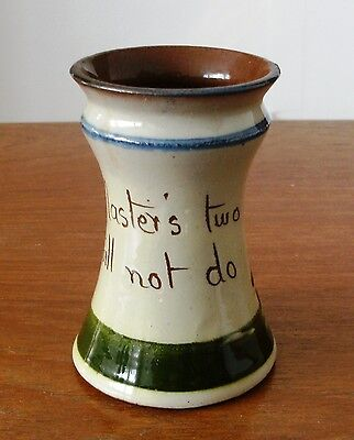 Very collectible Vintage Motto ware cocktail stick holder