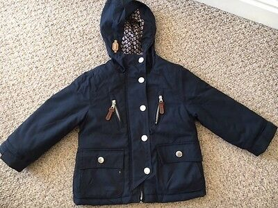Girls Size 3 Navy Coat From Next