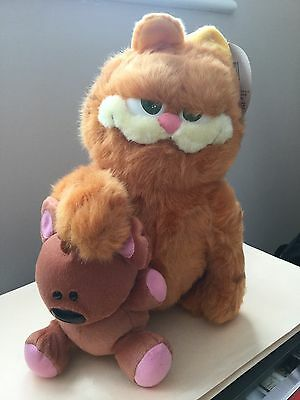 Garfield The Movie With Pooky The Bear Plush Toy