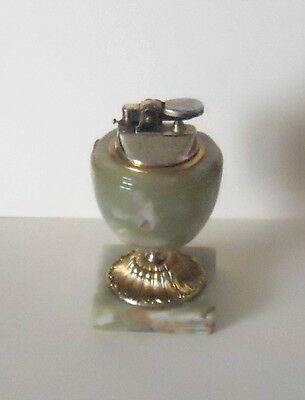 Vintage Onyx Based Gas Table Lighter