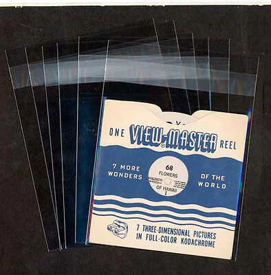 Clear Protective ViewMaster SINGLE REEL Sleeves/Bags - quantity 100 - Acid Free