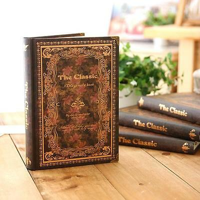 """""""Back in Time"""" 1pc Journal Diary Hard Cover Classical Vintage Lined Notebook"""